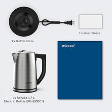Load image into Gallery viewer, Miroco Electric Kettle Temperature Control Stainless Steel 1.7 L 1.7L, Silver