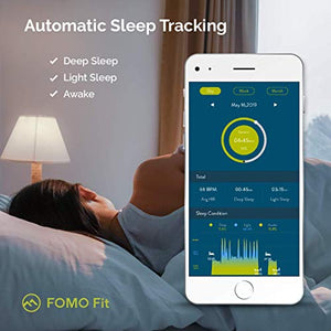 FOMO Fit 2019 Fitness Tracker Designed in California. Automatically GPS-BLUE