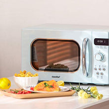 Load image into Gallery viewer, COMFEE' AM720C2RA-G Retro Style Countertop Microwave Oven with 9 Pastel Green