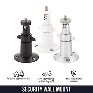 Wasserstein Adjustable Metal Wall Mount Compatible with Arlo Ultra, White