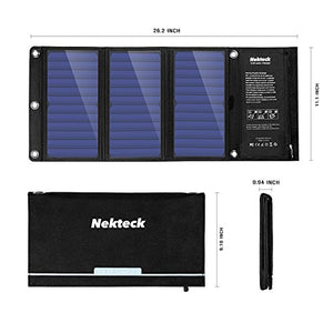 Nekteck 21W Portable Solar Panel Charger, Waterproof Camping Gear Solar...