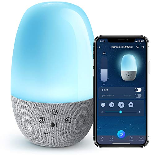HeimVision N600S Baby Sound Machine WiFi, Smart Night Light for Kids Work...