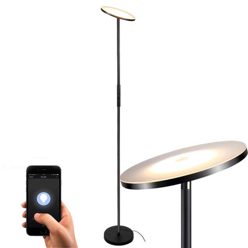 Floor Lamp, Sky LED Torchiere Smart Light,TECKIN Dimmable Standing Black