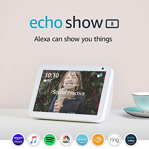 Echo Show 8 - stay connected and in touch with Alexa - Sandstone