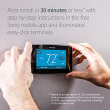 Load image into Gallery viewer, Emerson Sensi Touch Wi-Fi Smart Thermostat with Touchscreen Color Black