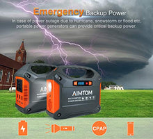 Load image into Gallery viewer, AIMTOM Portable Solar Generator, 42000mAh 155Wh Power Station,