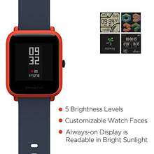 Load image into Gallery viewer, Amazfit BIP smartwatch by Huami with All-Day Heart Rate & Cinnabar Red