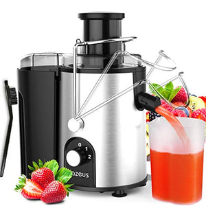 [ Unique Version] AZEUS Centrifugal Juicer Machines, Juice Medium, Silver