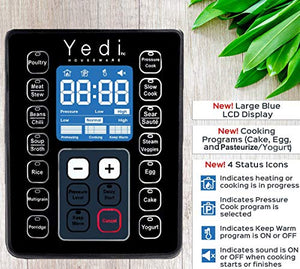 Yedi 9-in-1 Total Package Instant Programmable Pressure Cooker, 6 Copper