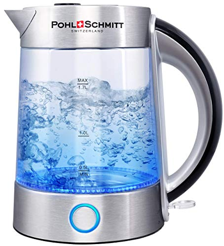 Pohl Schmitt 1.7L Electric Kettle with Upgraded Stainless Steel Large, Sliver