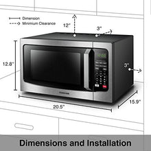 Load image into Gallery viewer, Toshiba EM131A5C-SS Microwave Oven with Smart Sensor, Easy Stainless Steel