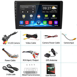 [2G+32G] Upgrade Hikity Double Din Android Car Stereo 10.1 Inch Touch 2G+32G