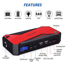 Load image into Gallery viewer, DBPOWER 800A 18000mAh Portable Car Jump Starter (up to 7.2L Gas, 5.5L Diesel...