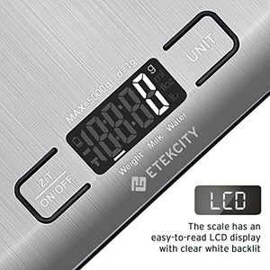 Etekcity Food Kitchen Scale, Gifts for Cooking, Small, 304 Stainless Steel