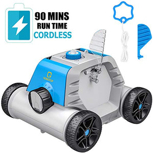 OT QOMOTOP Robotic Pool Cleaner, Rechargeable Cordless Design, 90 Mins...
