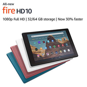 "All-New Fire HD 10 Tablet (10.1"" 1080p full display, 32 GB) – White"