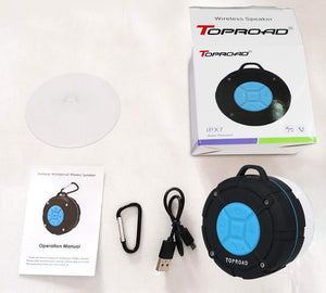 [2019 Version] Portable Shower Speaker,TOPROAD IPX7 Waterproof Wireless...
