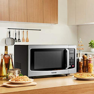 Toshiba EM131A5C-SS Microwave Oven with Smart Sensor, Easy Stainless Steel
