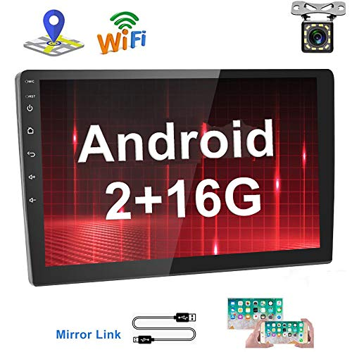 [2G+16G] Hikity 10.1 Inch Android Car Stereo Double Din Touch Screen 2G+16G