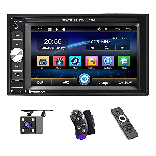 UNITOPSCI Car Multimedia Player - Double Din, Bluetooth Audio and Calling,...