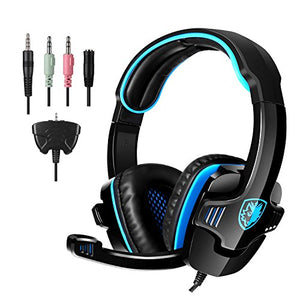 SADES Gaming Headset Headphone for 708GT, Black, Blue black