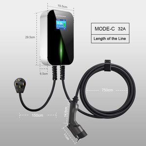 Morec EV Charging Station 32A Level2, ev Charger 220v-240v, NEMA14-50/6M