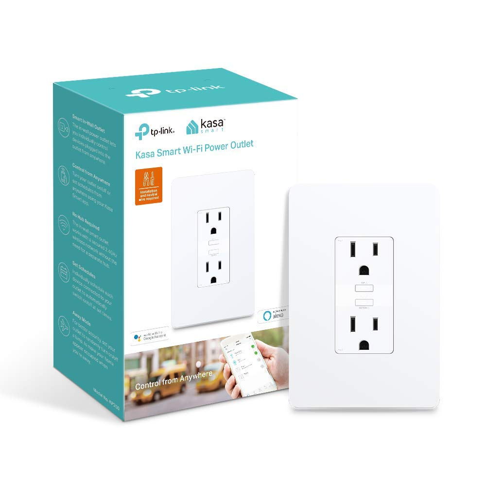 Kasa Smart WiFi Power Outlet, 2-Sockets by TP-Link – Compatible with Alexa...