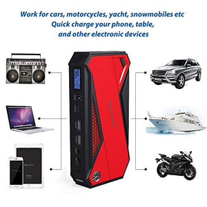 DBPOWER 800A 18000mAh Portable Car Jump Starter (up to 7.2L Gas, 5.5L Diesel...