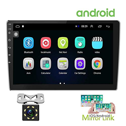 Hikity 10.1 Inch Android Car Stereo with GPS Double Din Radio 1G+16G
