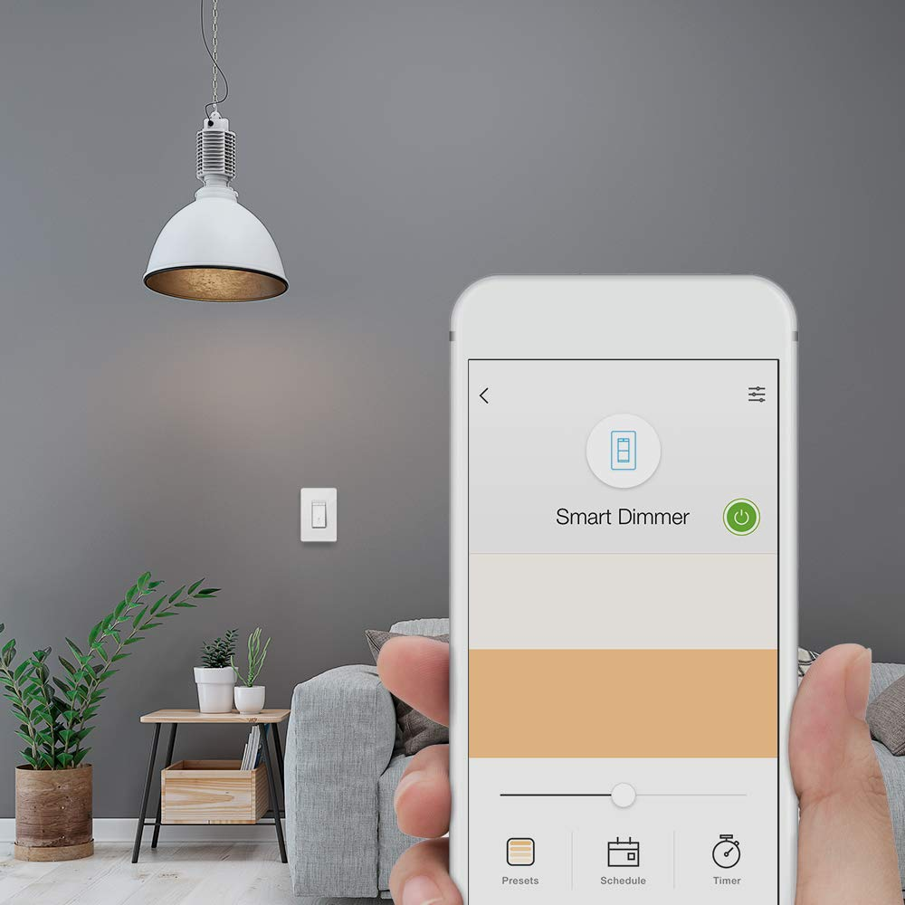Single-Pol Only White 3-Pack Dim Lighting from Anywhere Compatible with Alexa and Google Assistant Easy In-Wall Installation Dimmer by TP-Link TP-LINK HS220P3 Kasa Smart WiFi Light Switch
