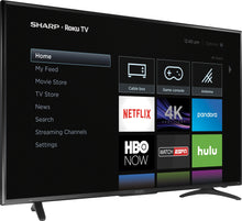 "Load image into Gallery viewer, Sharp - 55"" Class - LED - 2160p - Smart - 4K UHD TV with HDR Roku"