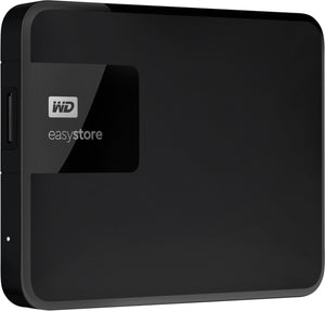WD - Easystore 4TB External USB 3.0 Portable Hard Drive - Black