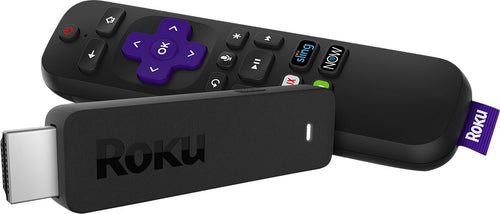 Roku - Streaming Stick with Voice Remote TV Power and Volume - Black