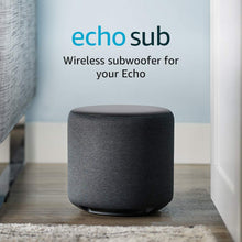 Load image into Gallery viewer, Echo Sub - Powerful subwoofer for your - requires compatible Charcoal