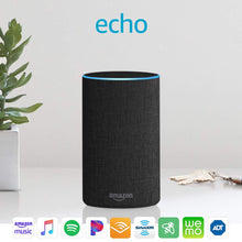 Load image into Gallery viewer, Echo (2nd Generation) - Smart speaker with Alexa - Charcoal /Gray Fabric, Fabric