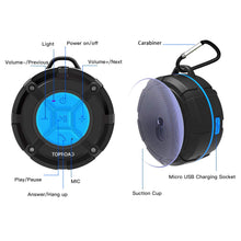 Load image into Gallery viewer, [2019 Version] Portable Shower Speaker,TOPROAD IPX7 Waterproof Wireless...