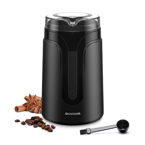 SHARDOR Electric Coffee Grinder Mill for 1-2 Person, Small, Black