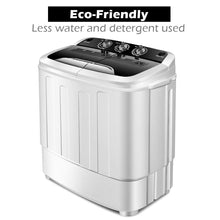 "Load image into Gallery viewer, Giantex Portable Compact 13 Lbs Mini Twin Tub 23""Lx14"" Wx27"" H, Black&White"