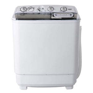 KUPPET Compact Twin Tub Portable Mini Washing Machine 21lbs Capacity, gray