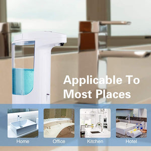 Automatic Soap Dispenser,370ml Liquid Dispenser Shower Touchless...