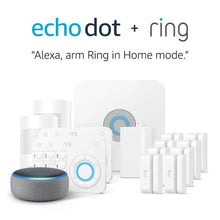 Load image into Gallery viewer, Ring Alarm 14 Piece Kit + Echo Dot (3rd Gen), Works with Alexa