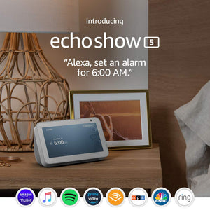 Echo Show 5 - Compact smart display with Alexa - Sandstone
