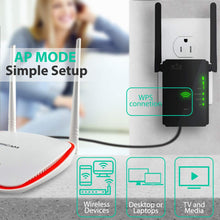Load image into Gallery viewer, WiFi Extender 300 Mbps with WPS Internet Signal Booster - Wireless Repeater...