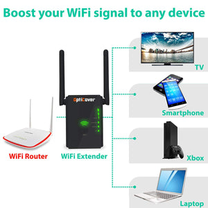 WiFi Extender 300 Mbps with WPS Internet Signal Booster - Wireless Repeater...
