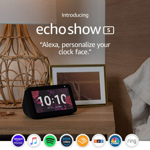 Echo Show 5 - Compact smart display with Alexa - Charcoal