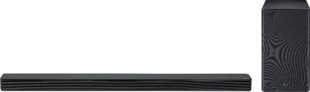 LG - 2.1-Channel Hi-Res Audio Sound Bar with Wireless Subwoofer - Black