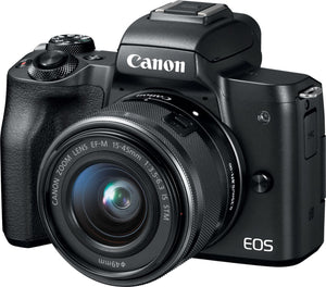 Canon - EOS M50 Mirrorless Camera with EF-M 15-45mm f/3.5-6.3 IS STM Zoom...