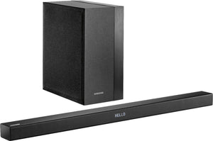 "Samsung - 2.1-Channel Soundbar System with 6.5"" Wireless Subwoofer - Black"