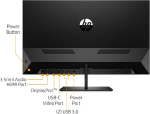 "HP - Pavilion 32"" LED QHD Monitor - Black"