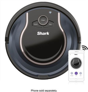 Shark - ION ROBOT Wi-Fi Connected Robot Vacuum - Black/Navy Blue